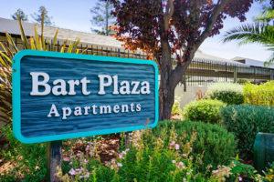 Bart Plaza Apartments Sign