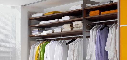 organized closet in an apartment