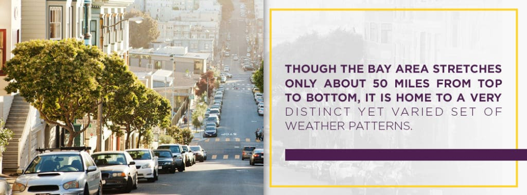 The Bay Area has a very distinct and varied set of weather patterns