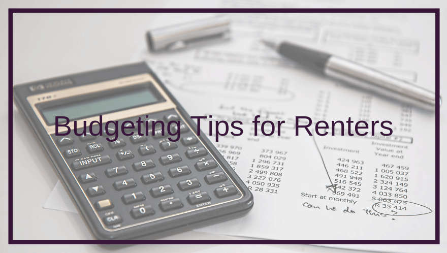 Budgeting Tips for Renters