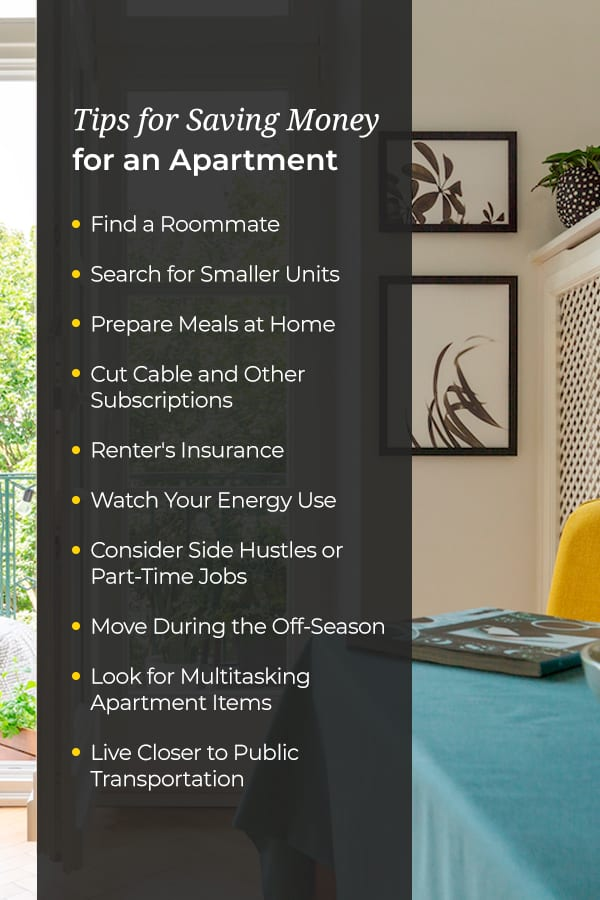 Tips for Saving Money for an Apartment