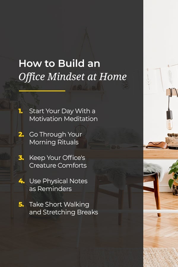 how to build an office mindset at home