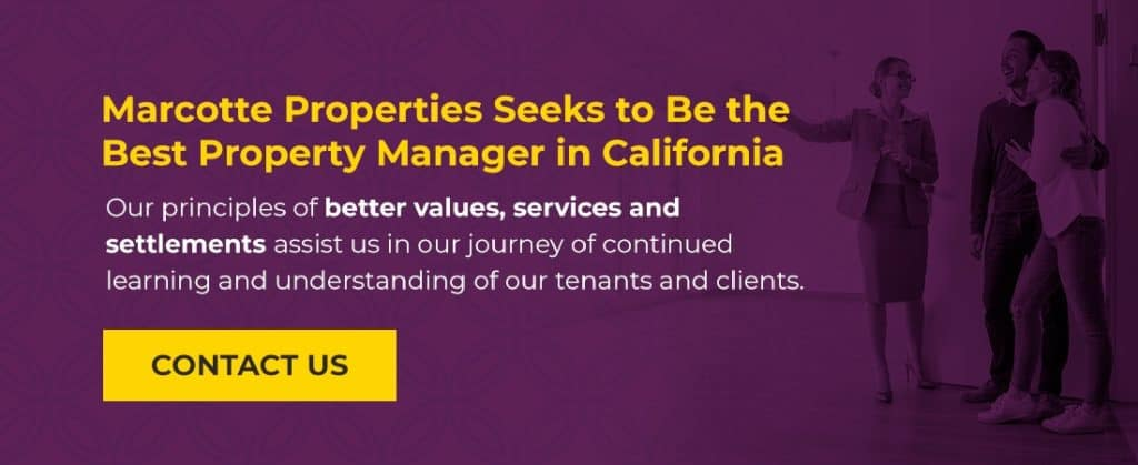Marcotte Properties seeks to be the best property manager in California